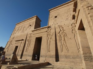 Detailed carvings cover Philae Temple