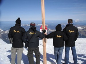Topdeck Crew at the top of Jungfrau